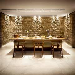 Plaza Yapı Malzemeleri – Beton Görününümlü Seramik: kırsal tarz tarz Yemek Odası