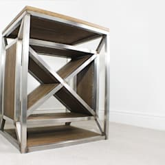 Dulla X Frame Industrial Wine Rack:  Offices & stores by Russell Oak and Steel Ltd