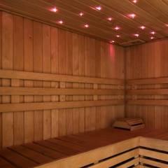 Saunas de estilo  por arlan.ch atelier d'architettura