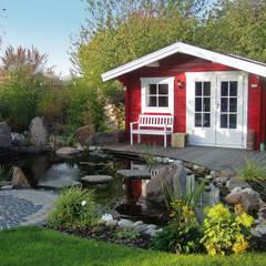 Pretty Log Cabin Taman Gaya Country Oleh Garden Affairs Ltd Country