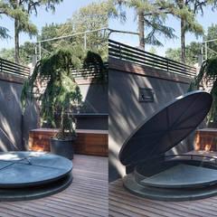 Udesign Architecture – Levent Villa:  tarz Şarap Mahzeni