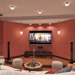 Комната отдыха: Медиа комнаты в . Автор – Aledoconcept