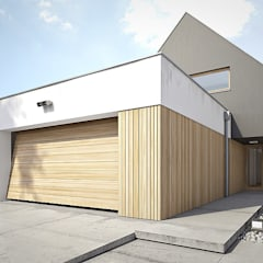 Dom: styl , w kategorii Garaż zaprojektowany przez Konrad Idaszewski Architekt