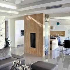Dom w Amarantusach : styl , w kategorii Jadalnia zaprojektowany przez Abakon sp. z o.o. spółka komandytowa,