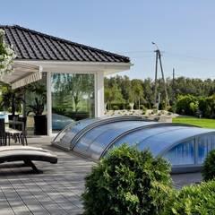 Dom w Amarantusach : styl , w kategorii Basen do ogrodu zaprojektowany przez Abakon sp. z o.o. spółka komandytowa