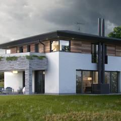 Villa Green River: Case in stile  di DomusGaia