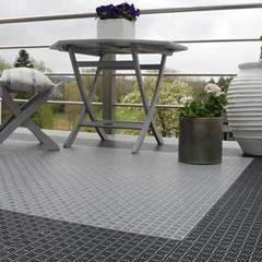 Bergo Briq balcony flooing:  Terrace by Ecotile Flooring
