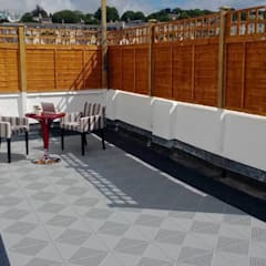 Roof Terrace flooring:  Terrace by Ecotile Flooring