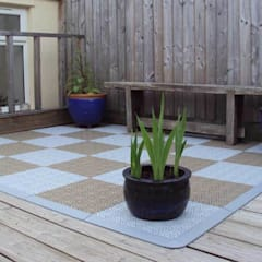 Bergo XL tiles in chequer pattern:  Terrace by Ecotile Flooring