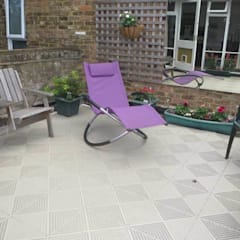 Roof top balcony with Unique tiles:  Terrace by Ecotile Flooring