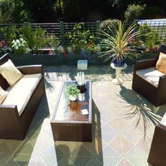 Bergo Unique tiles in Sand colour:  Terrace by Ecotile Flooring