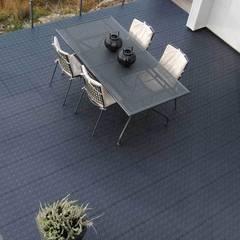 Bergo XL tiles on balcony floor:  Terrace by Ecotile Flooring