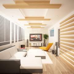 Sinar İç mimarlık – Teras, Kış Bahçesi ve Tv Odası:  tarz Teras