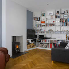 Redston Road:  Living room by Andrew Mulroy Architects