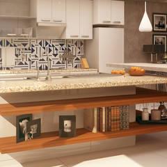 Loft Senti: Cocinas de estilo  por CONTRASTE INTERIOR