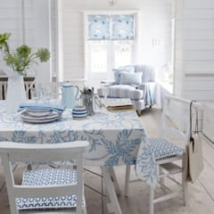 Clarke and Clarke - Maritime Prints Fabric Collection:  Dining room by Curtains Made Simple