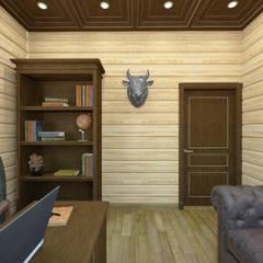 Дизайн-проект деревянного дома: Рабочие кабинеты в . Автор – Студия дизайна и декора Светланы Фрунзе