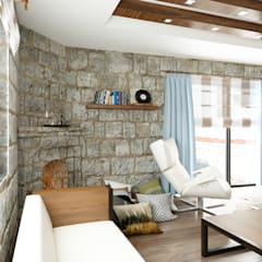 mediterranean Living room by ROAS ARCHITECTURE 3D DESIGN