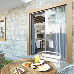 ROAS ARCHITECTURE 3D DESIGN – The Garden:  tarz Teras