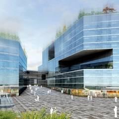 Airport City Geneva: Aéroports de style  par Groupe H