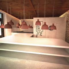 BE CHOCOLAT BARCELONA: Espacios comerciales de estilo  de zazurca arquitectos