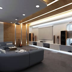 Media room by Lenz Architects, Modern