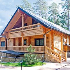 Blockhaus Pinus:  Terrasse von Woody-Holzhaus - Kontio