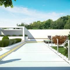 Загородный дом в Краснодаре: Сады в . Автор – NK design studio