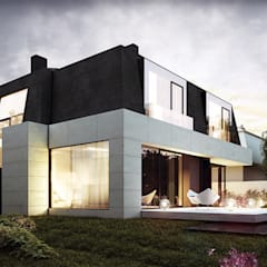 Modern houses by Pracownia projektowa artMOKO Modern