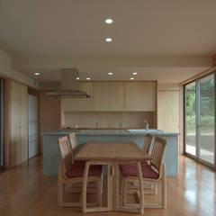 Dining room by 長谷雄聖建築設計事務所, Modern