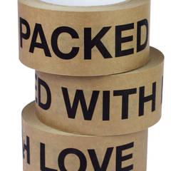 Papierklebeband Paked with love :   von pipapur,
