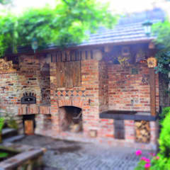 Grill murowany : styl , w kategorii Taras zaprojektowany przez Kuchnia w Ogrodzie
