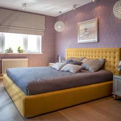 Квартира в Москве 100м2 (дизайнер Мария Соловьёва-Сосновик) Спальня в эклектичном стиле от Фотограф Анна Киселева Эклектичный