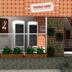 Loja Forno Mío:  Gastronomy by Luiza Pacheco Arquitetura