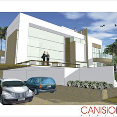 A21 Residência: Casas  por Canisio Beeck Arquiteto,