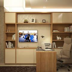 ห้องทำงาน/อ่านหนังสือ by tatarintsevadesign