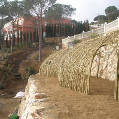 Estructuras de sauce vivo: Jardines de invierno de estilo  de LANDSHAFT