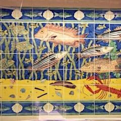 Waitrose fish panel:  Shopping Centres by Reptile tiles & ceramics