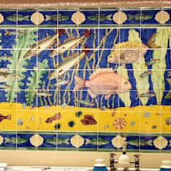 Waitrose fish panel 2:  Shopping Centres by Reptile tiles & ceramics