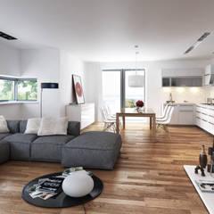 Living minimal: Soggiorno in stile  di SMAG design