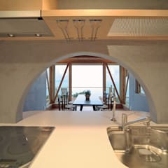 キッチン: スタジオドディチが手掛けたキッチンです。