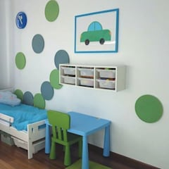 DOTS inspiruje: styl , w kategorii Pokój dziecięcy zaprojektowany przez FLUFFO fabryka miękkich ścian,