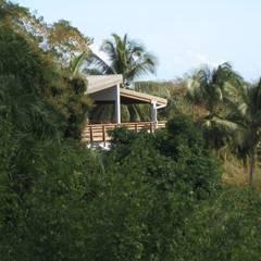 LAUTE house - tree house - outside view: Maisons de style  par STUDY CASE sas d'Architecture