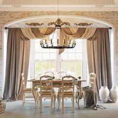 Традиционный интерьер для кухни столовой: Столовые комнаты в . Автор – Студия дизайна Interior Design IDEAS