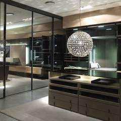 Dressing room island units:  Dressing room by Lamco Design LTD