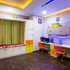 modern Nursery/kid's room by Srujan Interiors & Architects Pvt Ltd