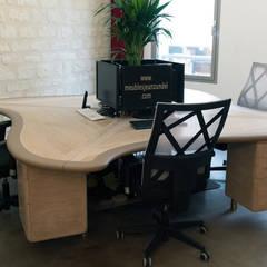Bureau 4 postes / Desk for 4 posts : Bureaux de style  par Jean Zündel meubles rares