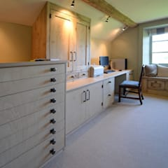 Bleached Oak & Ply Wood Study:  Study/office by Hallwood Furniture