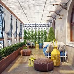 Летняя терраса в частном доме: Tерраса в . Автор – Sweet Home Design