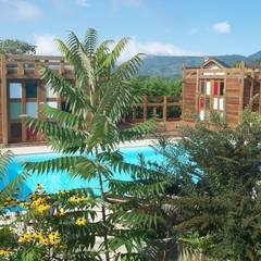 Pegola, pool house  Savoie: Piscines  de style  par FA'BRIC ET BOIS